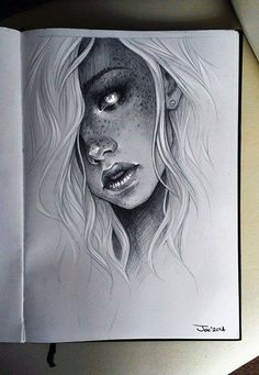 Ideas for tattoo girl face draw character design - - tattoo girl drawing Ideas for tattoo girl face draw character design Realistic Pencil Drawings, Cool Drawings, Drawing Sketches, Drawing Tips, Sketching, Creepy Drawings, Drawing Ideas, Drawings Of Faces, Sketches Of Love