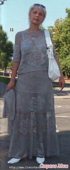 Филейный костюм - ВЯЗАНАЯ МОДА+ ДЛЯ НЕМОДЕЛЬНЫХ ДАМ - Страна Мам