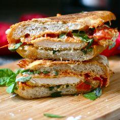 Chicken parmesan grilled cheese sandwich.