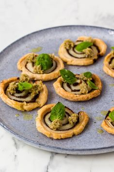 This stunning mushroom palmier recipe makes a great vegan canapé for Christmas. Christmas Canapes, Christmas Party Food, Vegan Christmas, Christmas Nibbles, Vegetarian Canapes, Vegan Recipes, Snack Recipes, Great British Chefs, Party Snacks