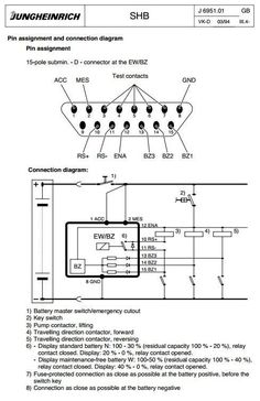 jungheinrich electric forklift truck efg dh series 12 5 15b jungheinrich electric lift truck efg df 12 5 efg df 15 efg df 18 02 1994 09 1998 service manual circuit diagramhigh