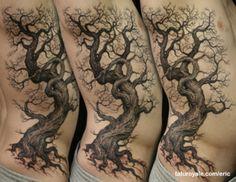 knarly tree Tattoo done by Eric Schandelmeier...amazing detail!