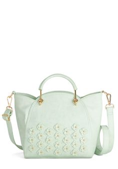 Let's Posy Along Bag. Take a stylish stroll with this cool, mint satchel! #mint #modcloth