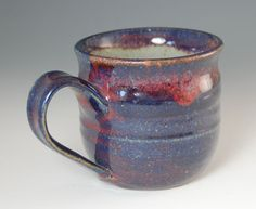 Celestial looking glaze! Etsy site says glazed in chun blue and white, must be their own recipe. Wonderful glaze result!