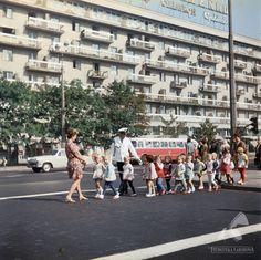 ulica Świętokrzyska 1971  #warszawa #warsaw #poland #ulica #świętokrzyska #ulica #policjant #dzieci #blok #miasto #neon #autobus Corpse Bride, Ppr, Warsaw, Old Photos, Poland, City Photo, Places To Visit, Street View, Europe