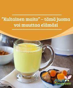 Golden Milk, joka voi muuttaa elämääsi # Golden Milk on sekoitus … Golden Milk Benefits, Ayurveda, Brunch, Natural Home Remedies, Detox Recipes, Detox Tea, Health Remedies, How To Lose Weight Fast, Smoothies