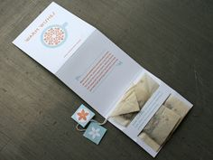 Love the inset tea bags! Orange Seed Holiday Card, printed by Studio on Fire.