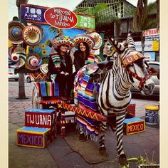 When in #Tijuana you can't miss a picture on the traditional Zebra-Donkey or Zonkey at Ave. Revolucion! Strike a pose for the perfect snapshot! #DiscoverBajaCalifornia! See more; https://www.facebook.com/DiscoverBajaCalifornia