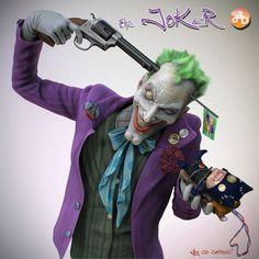 Joker Artwork   The Joker – 3D Fan Art by Daniele Angelozzi
