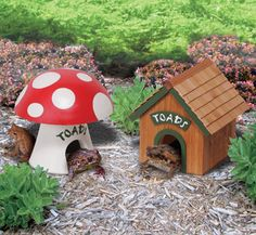 Provide shaded shelter during the day for toads and frogs and in return he will dine all night on insects in your garden! Get the plans for these toad houses at The Winfield Collection
