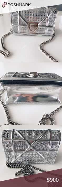 Dior Diorama mini clutch Excellent Condition (no visible signs of wear) Can wear with chain or as a clutch. Bags Mini Bags