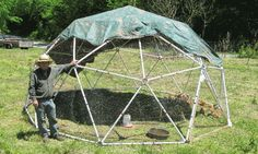PVC Hubs - Zip Tie Domes - Geodesic Dome Greenhouse Kits and Chicken Coop Kits for Sale