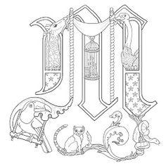 Alice Stanne: More Illuminated Letters