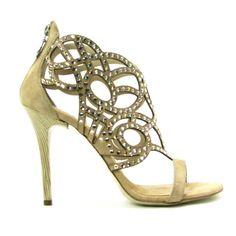 Fabi crystal strappy sandal
