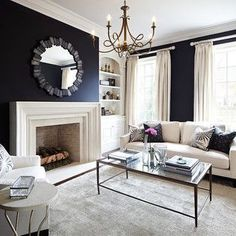 Black Painted Room Ideas grey walls with curtains that match | living room ideas