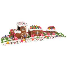 gingerbread train kit - Chasing Fireflies