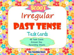 Fun way to practice irregular past tense! Use task cards and play SCOOT :) * For grade, grade, and grade How To Teach Grammar, Teaching Grammar, Language Activities, Literacy Activities, Activities For Kids, Grammar Lesson Plans, Grammar Lessons, English Language, Language Arts