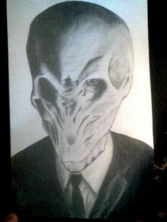 My drawing of the Silence from Doctor Who.
