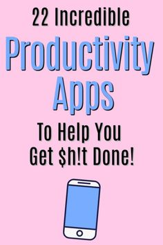The top productivity apps to help you get organized, stay focused, and finally get stuff done! Learn about the best productivity apps to help you achieve Best Free Apps, Stop Wasting Time, Family Schedule, Online Video Games, Productivity Apps, Time Management Tips, Business Management, Project Management, Android Apps