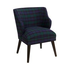Just when you thought you'd exhausted possibilities for creating the perfect vintage-inspired room motif, we present the Aberdeen Accent Chair. If you hadn't considered plaid as a suitable pattern, you...  Find the Aberdeen Accent Chair, as seen in the Christmas In London Collection at http://dotandbo.com/collections/christmas-in-london?utm_source=pinterest&utm_medium=organic&db_sku=115680