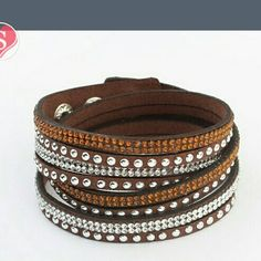 Leather Fashion Wrap Bracelet *Price firm unless bundled*  Brown double wrap  Leather Fashion Bracelet- I only have brown right now. I will have other colors soon!! Jewelry Bracelets