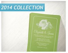 Lime Green Rustic Floralflower Wedding Invitations