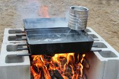 Simple maple sap evaporator setup...look at this for next years tapping