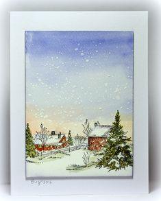 CAS360 Snow by Biggan - Cards and Paper Crafts at Splitcoaststampers
