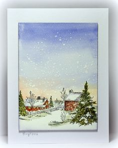 CAS360 Snow by Biggan - Cards and Paper Crafts at Splitcoaststampers