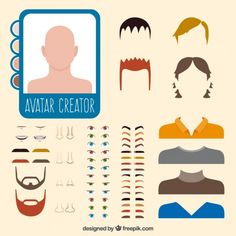 Avatar Creator, The Creator, Vector Free, Potato Heads, Crafts, Character, Paper Puppets, Men, Baby Dolls