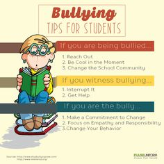 We can do something against #bullying. Here are some tips to #BullyNoMore #bullying