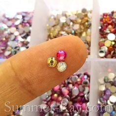 3 mm AB coated rhinestones in thrilling colors
