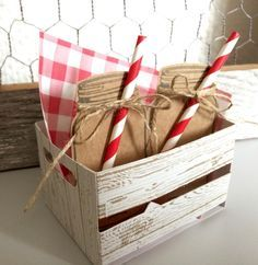 wooden crate - Stampin' Up!
