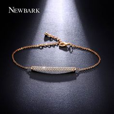 Cheap bracelets for, Buy Quality bracelets for women directly from China bracelets for women fashion Suppliers: NEWBARK Charm Bar Slider Bracelets For Women Brilliant Pave Zirconia CZ Adjustable Rose Gold Color Chain Fashion Jewelry Diamond Bracelets, Diamond Jewelry, Jewelry Bracelets, Silver Jewelry, Link Bracelets, Jewellery, Chain Bracelets, Gold Bangles Design, Jewelry Design