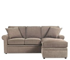 Stuart Sofa with Chaise Ottoman - Two looks in one! To change the look to a traditional 3-seat sofa, chaise cushion may be swapped with a regular sofa cushion which comes standard with