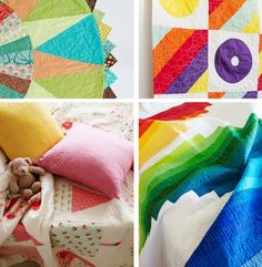 Love the rainbow quilt in the lower right corner.