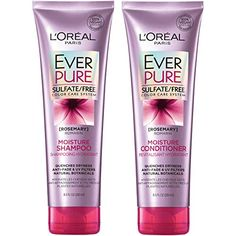 L'Oréal Paris Hair Care EverPure Moisture Sulfate Free Shampoo & Conditioner Kit for Color-Treated Hair, Moisturizes + Replenishes Dry Hair, Combo Fl. Oz each) Color Safe Shampoo, Good Shampoo And Conditioner, Loreal Shampoo, Moisturizing Shampoo, Herbal Essences, Sulfate Free Shampoo, Best Shampoos, Hair Serum, L'oréal Paris