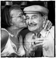 joyful couple growing old together