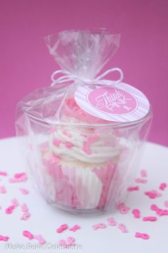 MBC: Fondant Awareness Ribbons + Packaging Cupcakes