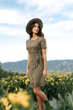 When In Rome Dress in Olive – cladandcloth