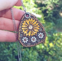 Sweet autumnal leather pendant, made to order, just for you!