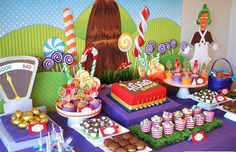 Willy Wonka Chocolate Factory Party Decoration
