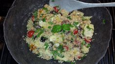 Quinoa Salad with Artichokes, Olives and Chickpeas