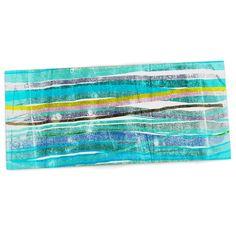"""Frederic Levy-Hadida """"Fancy Stripes Acqua"""" Desk Mat"""