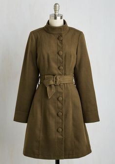 Ready to Orchard Coat. Kick off your orchard tour with a glass of cider as sweet and refreshing as this vintage-inspired coat! #green #modcloth