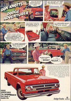 1970 Dodge Adventurer Truck Ad- Don Knotts!