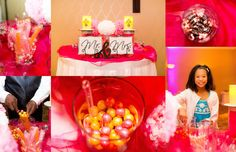 Orange and Fuchsia candy bar :: Hilton Knoxville Wedding :: Knoxville TN Wedding Photography :: Eden Bliss Weddings