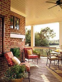 adorable front porch.