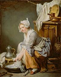 The Geddy Museum    Greuze's 1761 Laundress glamorizes the hot, hard work of cleaning clothes.