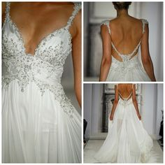 Pnina Tornai Wedding Dress (maybe less cleavage though, but LOVE the idea)